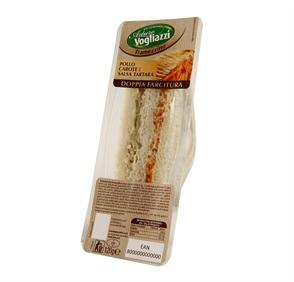tramezzino doppia farcitura pollo carote salsa tartara 120gr fres.co cb distributori automatici